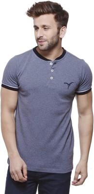 MONTEIL & MUNERO Solid Men's Henley Grey T-Shirt