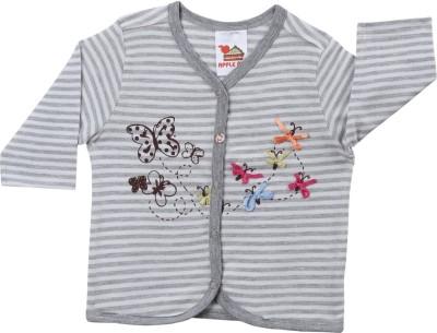 Apple Pie Graphic Print Baby Boy's Henley T-Shirt