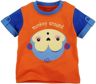 Fisher-Price Printed Boy's Round Neck Multicolor T-Shirt