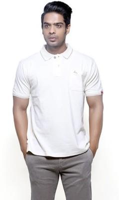 Fashnopolism Solid Men's Polo Neck Purple T-Shirt