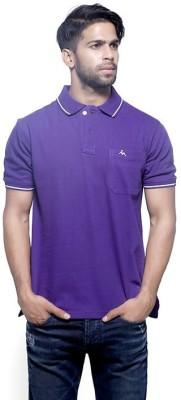 Fashnopolism Solid Men's Polo Purple T-Shirt