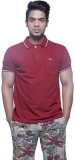 Fashnopolism Solid Men's Polo Neck Red T...