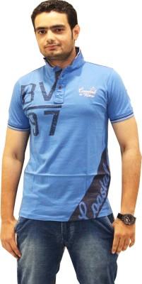GOPAL EMPORIUM Solid Men's Polo Blue T-Shirt