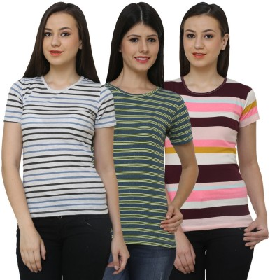 Ebry Solid Womens V-neck T-Shirt