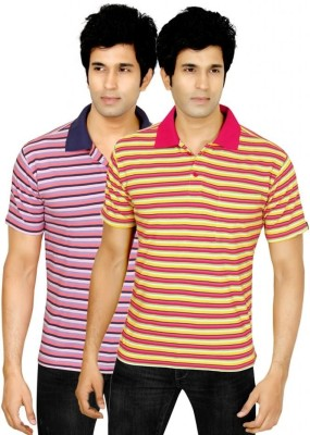 Earls777 Striped Men's Polo Multicolor T-Shirt