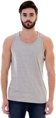 Mimoda Solid Men's Round Neck Grey T-Shirt
