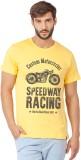 Bewakoof Printed Men's Round Neck Yellow...