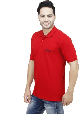 Rollinia Solid Men's Polo Red T-Shirt