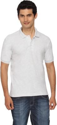 Scottish Solid Men's Polo White, Grey T-Shirt