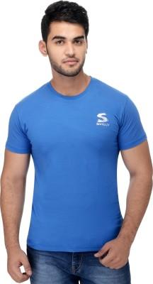 Surly Solid Men's Round Neck Dark Blue T-Shirt