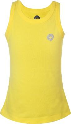 Vitamins Solid Girl's Round Neck Yellow T-Shirt