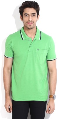 Fort Collins Solid Men's Polo Neck Green T-Shirt