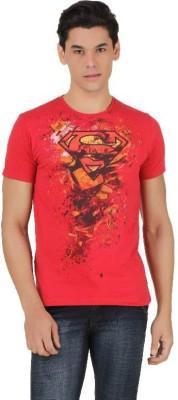 Superman Printed Men's Round Neck Red T-Shirt