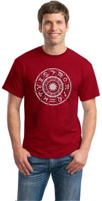 Inkvink Printed Men's Round Neck Red T-Shirt