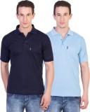 Ruby Wears Solid Men's Polo Neck Blue, L...