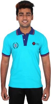 Moxi Printed Men's Polo Neck Blue T-Shirt