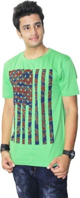Ibnelite Printed Men's Round Neck Multicolor T-Shirt