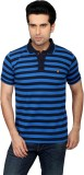 Got It Striped Men's Mandarin Collar Blu...