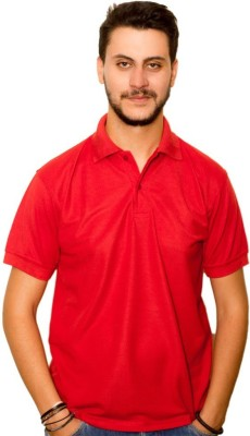 Dreamz Clothing Co Solid Men,s Polo Neck Red T-Shirt