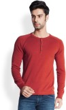 Park Avenue Solid Men's Round Neck Red T...
