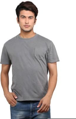 Chinese Printed Men's Round Neck Grey T-Shirt