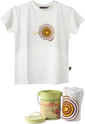 Omved Printed Baby Boy's Round Neck White T-Shirt