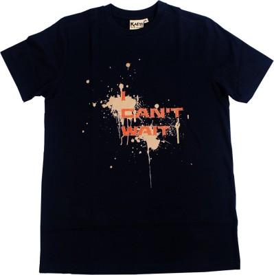 Kaey Graphic Print Men's Round Neck Black T-Shirt