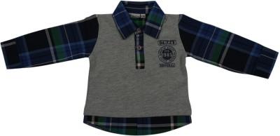 Buzzy Checkered Baby Boy's Polo Multicolor T-Shirt