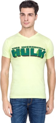 Vidyuth Traders Printed Men's V-neck Green T-Shirt