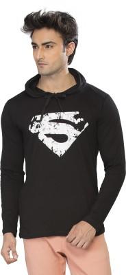 Alan Jones Printed Men's Hooded Black T-Shirt