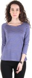 Chimera Striped Women's Round Neck Blue ...