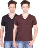 BrandTrendz Solid Men's V-neck Multicolo...
