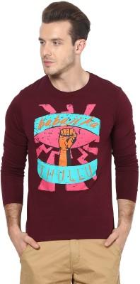 Gabambo Graphic Print Men's Round Neck Maroon T-Shirt
