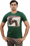 Kothari Printed Men's Round Neck Green T...