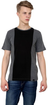 Rigo Solid Men's Round Neck Black T-Shirt