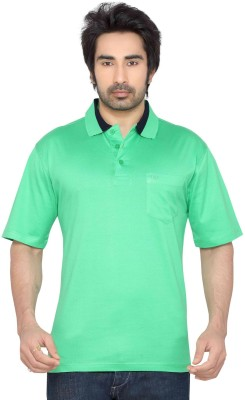 Thinc Solid Men's Polo Neck Light Green T-Shirt