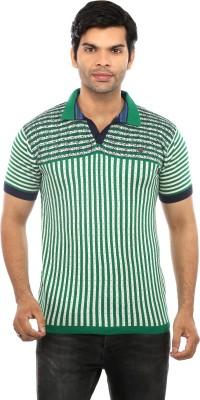 GOT IT Solid Men's Mandarin Collar Green T-Shirt