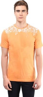 Atorse Solid Men's Round Neck Orange T-Shirt
