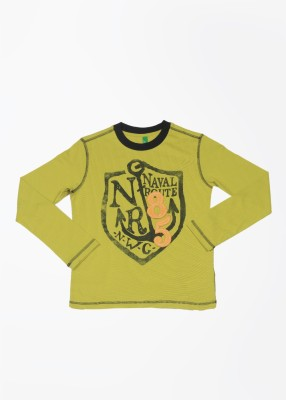United Colors of Benetton Printed Boy's Round Neck T-Shirt