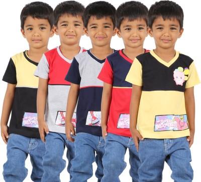 1ly Cargos Printed Boy's V-neck T-Shirt