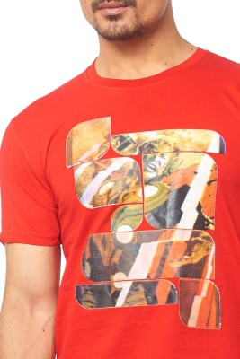 Thor Printed Men's Round Neck Red T-Shirt
