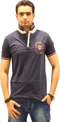 GOPAL EMPORIUM Solid Men's Polo Dark Blue T-Shirt