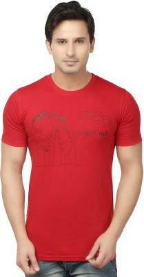Hattha Printed Men's Round Neck T-Shirt