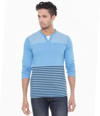 Wexford Striped Men's Henley Blue T-Shirt