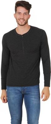 Cherymoya Solid Men's Round Neck Black T-Shirt