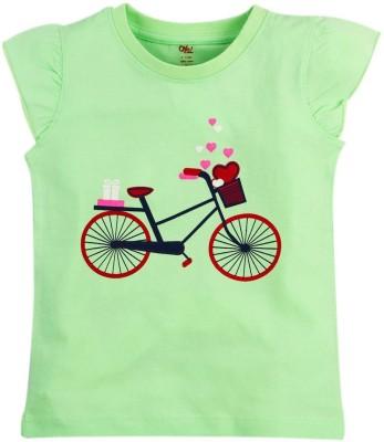 Oye Printed Baby Girl's Round Neck T-Shirt
