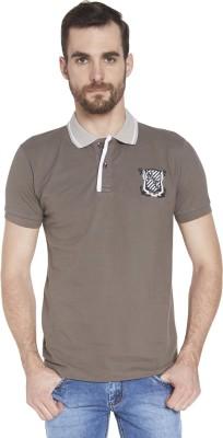 Globus Solid Men's Polo Neck Grey T-Shirt