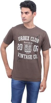 urbantouch Printed Men's Round Neck Brown T-Shirt