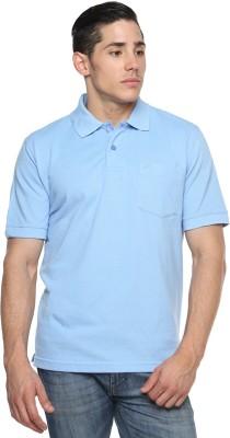 Tempt Solid Men's Polo Neck Light Blue T-Shirt
