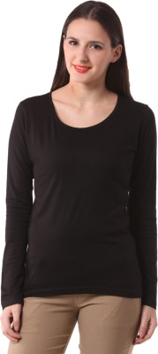 Fashionexpo Solid Women's Round Neck T-Shirt